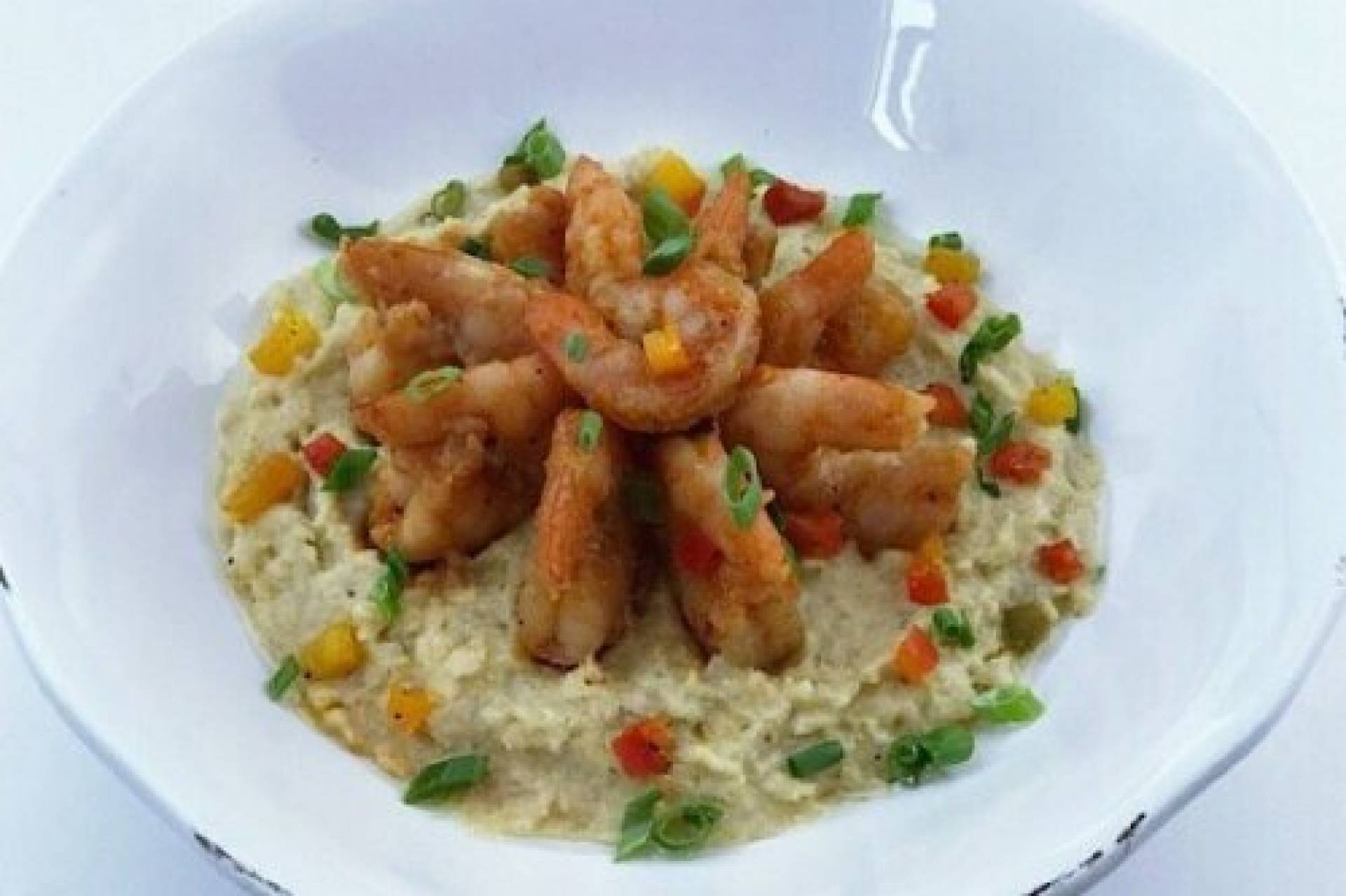 Sweet and Tangy BBQ Shrimp with Cheddar Grits