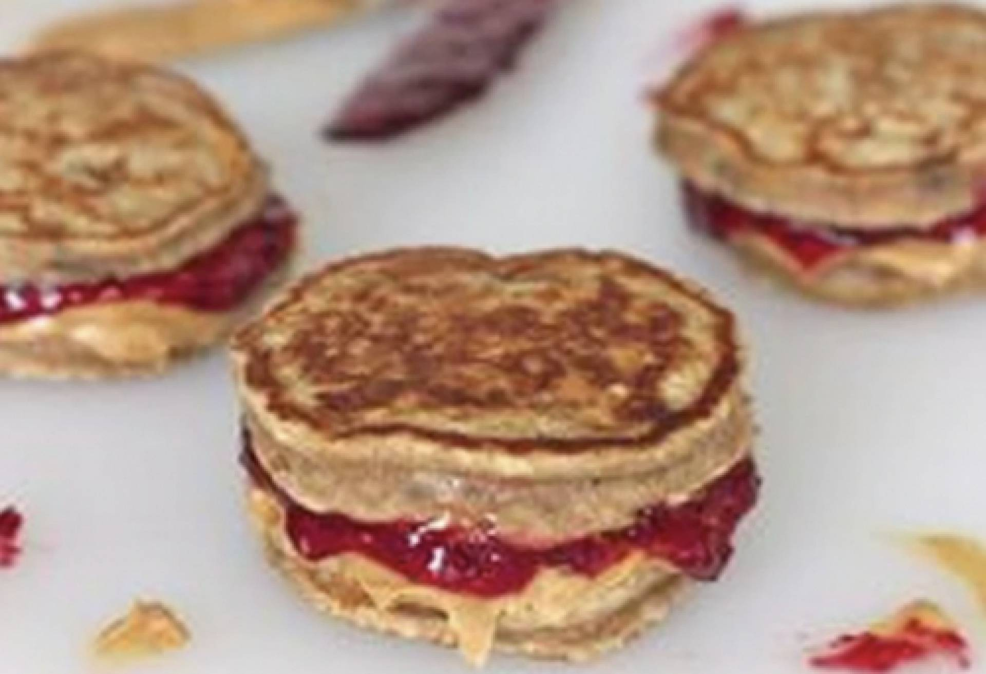 KIDS Peanut Butter and Jelly Pancake Sandwiches***