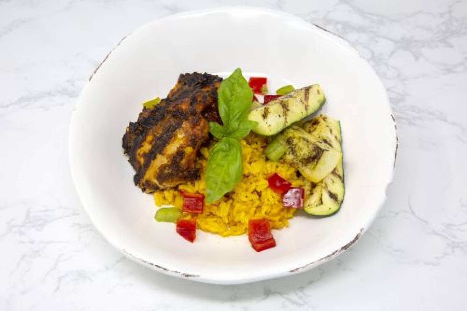 Tandoori Chicken with Saffron White Rice