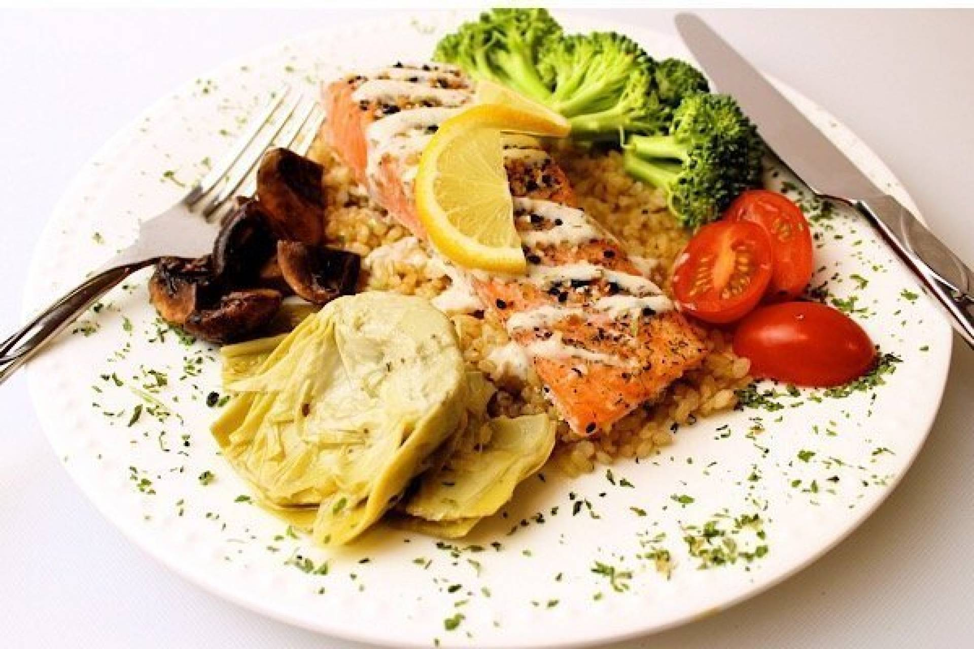 Sesame Dill Encrusted Baked Salmon with Feta Dill Sauce