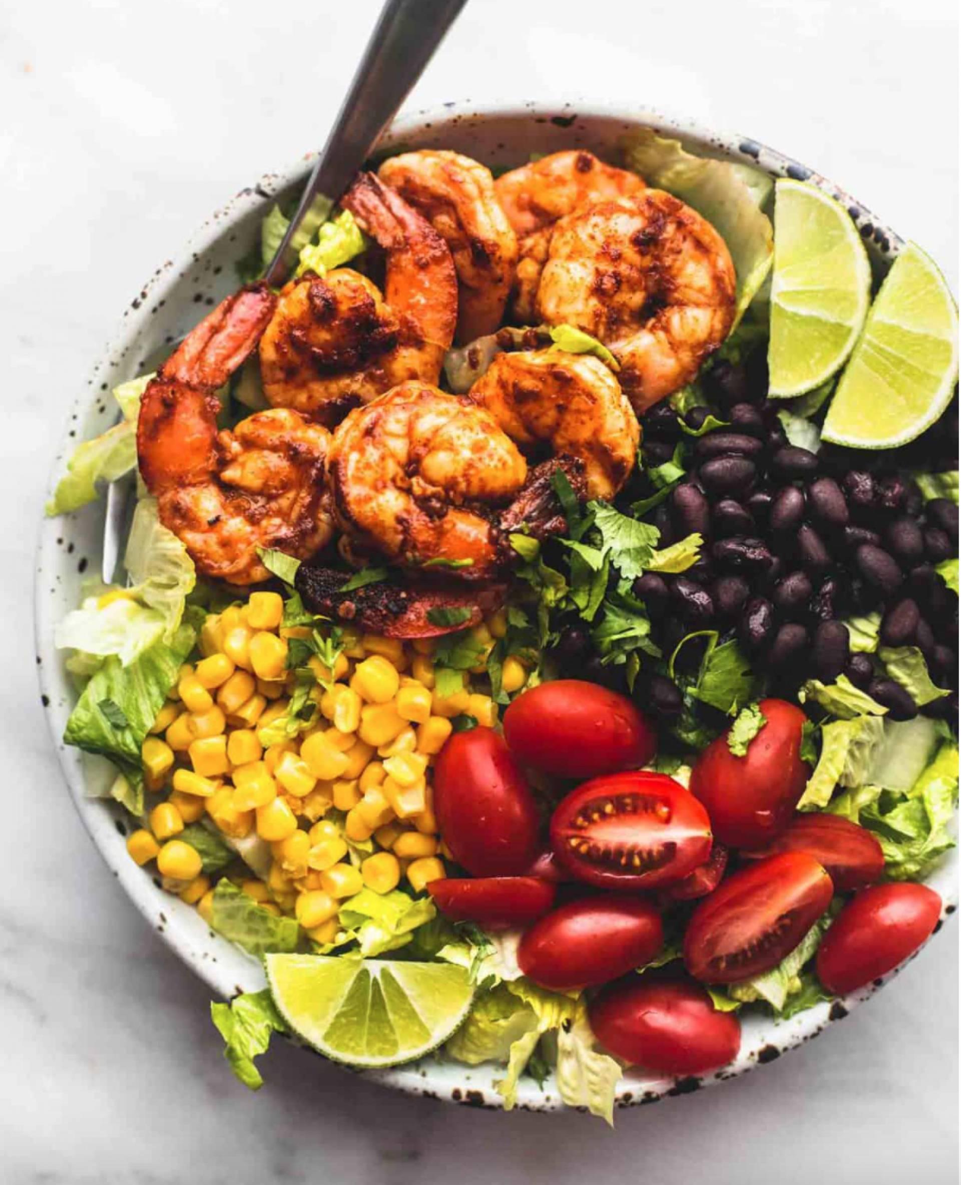 KETO Old Bay Shrimp Burrito Bowl