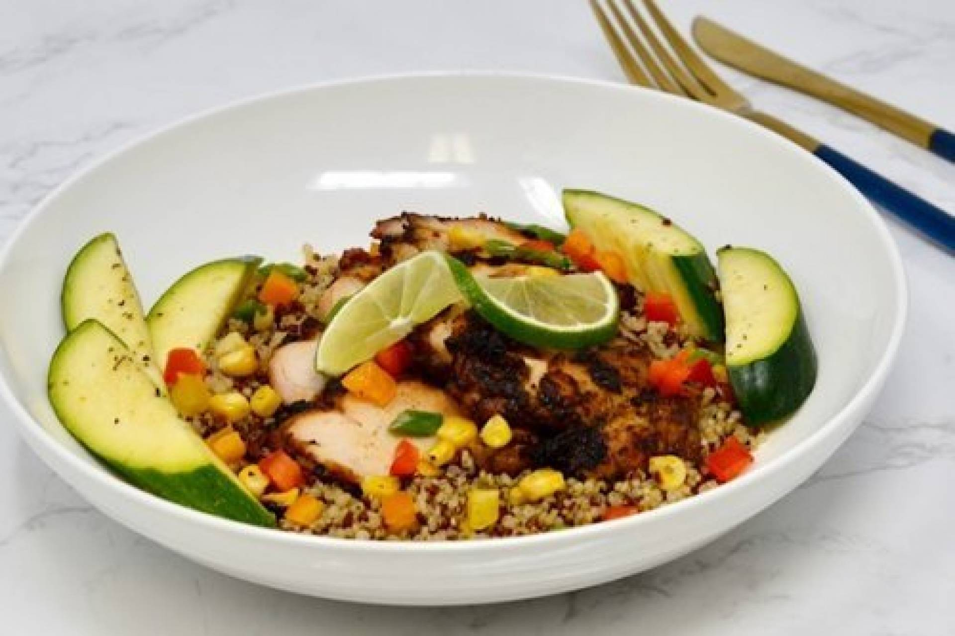 Smoked Mesquite Chicken with quinoa