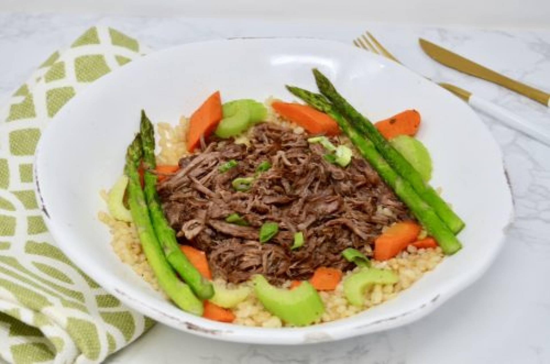 Savory Chuck Roast with Brown Rice