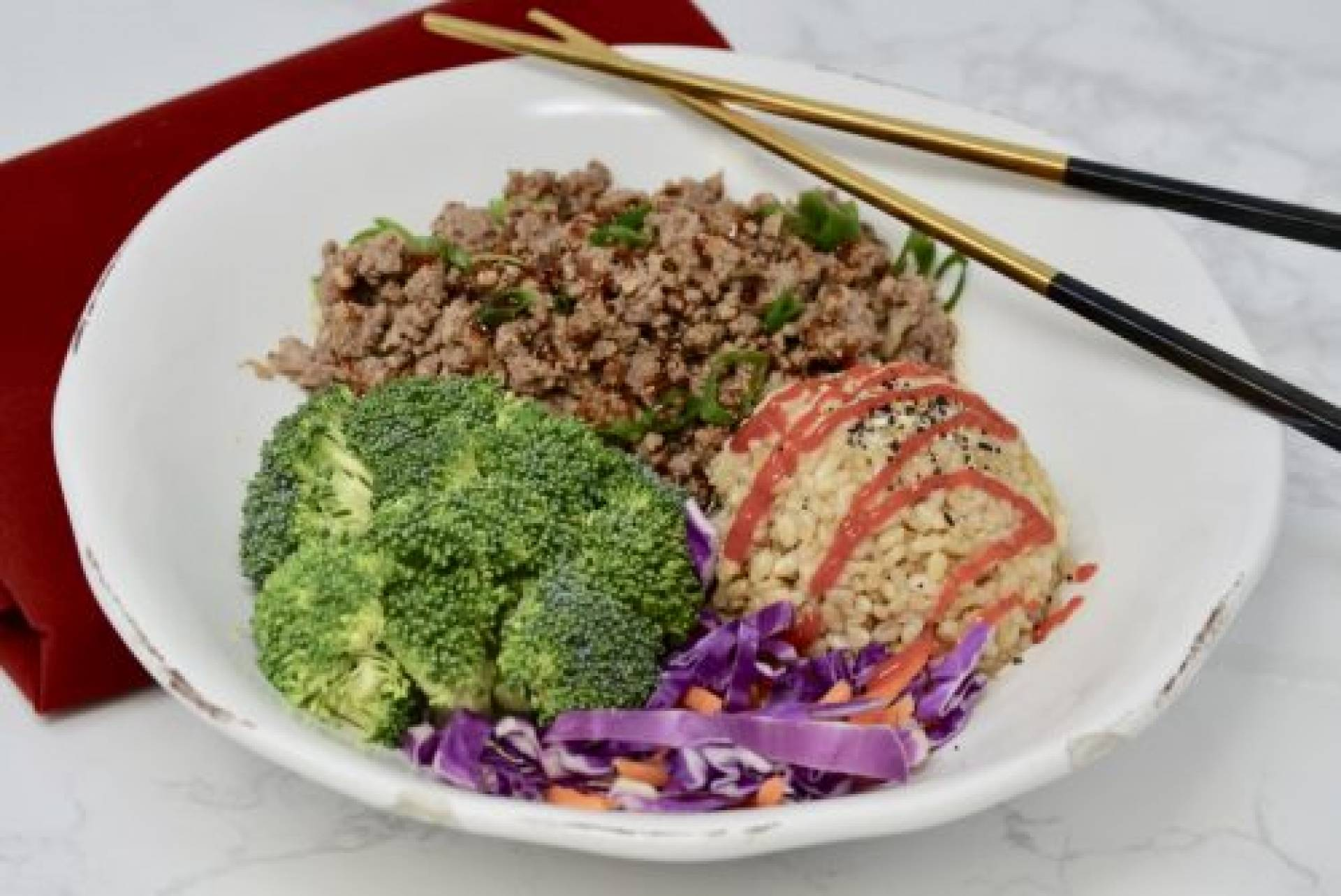 Korean Grass-Fed Beef and Rice Skillet